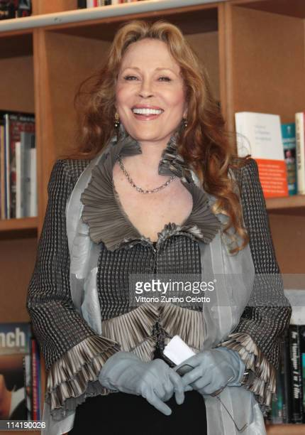 Faye Dunaway receives Order Of Arts And Letters Medal at Cafe des Palmes during the 64th Cannes Film Festival on May 15 2011 in Cannes France
