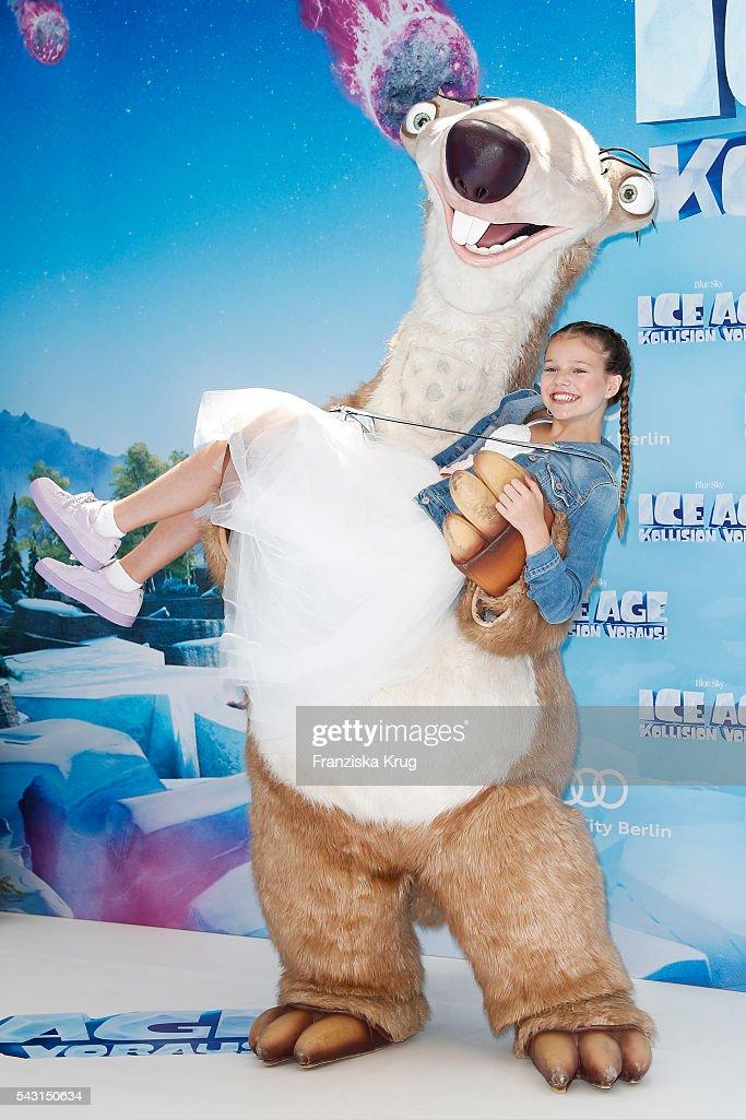 Faye Montana Briest attends the 'Ice Age - Kollision Voraus' German Premiere at CineStar on June 26, 2016 in Berlin, Germany.