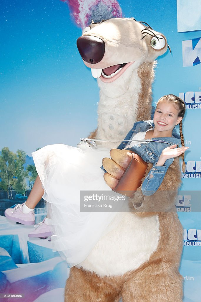 Faye Montana Briest attends the 'Ice Age - Kollision Voraus' German Premiere at CineStar on June 26, 2016 in Berlin, Germany.
