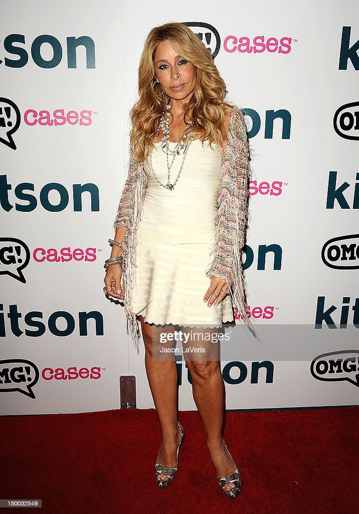 Faye Resnick attends the launch party for 'OMG Cases' at Kitson on Roberston on August 8, 2012 in Beverly Hills, California.