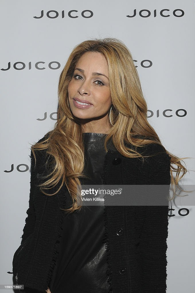<a gi-track='captionPersonalityLinkClicked' href=/galleries/search?phrase=Faye+Resnick&family=editorial&specificpeople=2606348 ng-click='$event.stopPropagation()'>Faye Resnick</a> attends Turning Heads With Joico Hair Care At Colgate's Pre Golden Globe Beauty Bar on January 12, 2013 in West Hollywood, California.