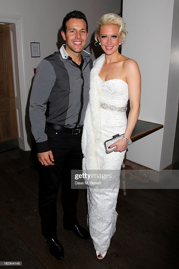 Faye Tozer (R) and Lee Latchford-Evans attend 'The Tailor-Made Man' press night after party at the Haymarket Hotel on January 21, 2013 in London, England.