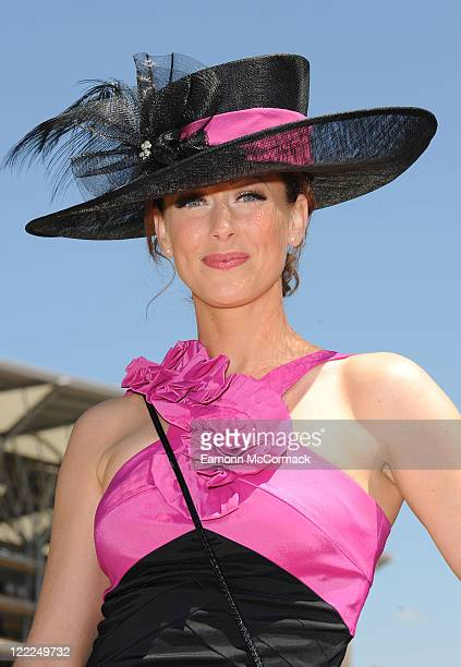 Faye Tozer attends Royal Ascot at Ascot Racecourse on June 16 2010 in Ascot England