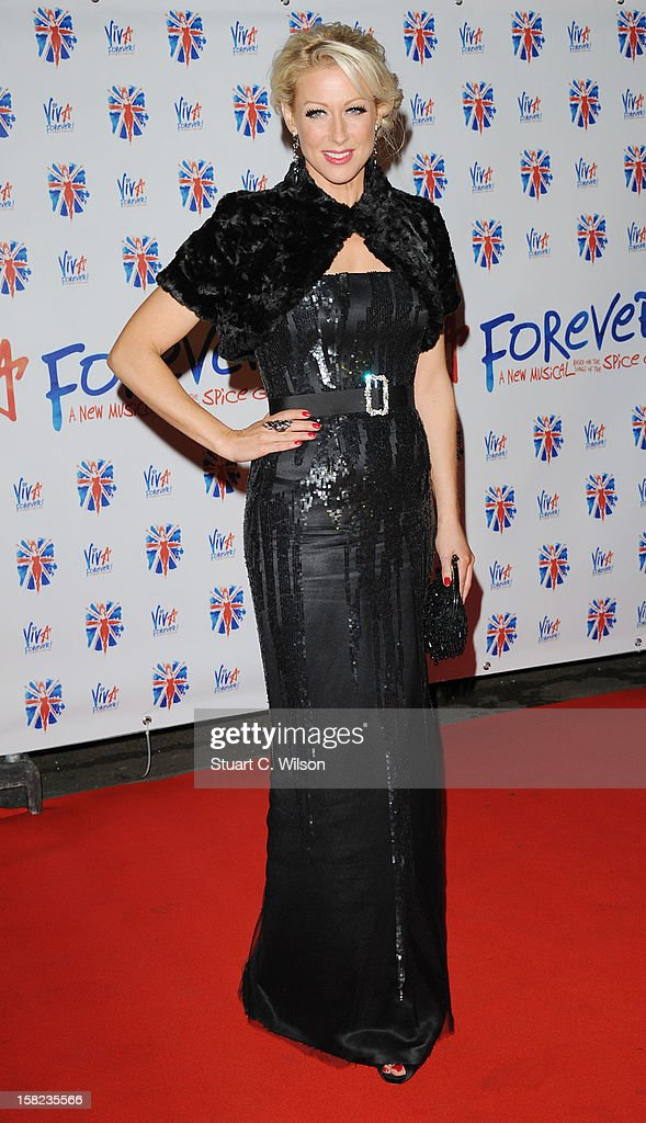 Faye Tozer attends the after party for the press night of 'Viva Forever', a musical based on the music of The Spice Girls at Victoria Embankment Gardens on December 11, 2012 in London, England.