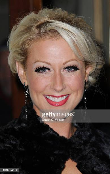 Faye Tozer attends the press night of 'Viva Forever' a musical based on the music of The Spice Girls at Piccadilly Theatre on December 11 2012 in...