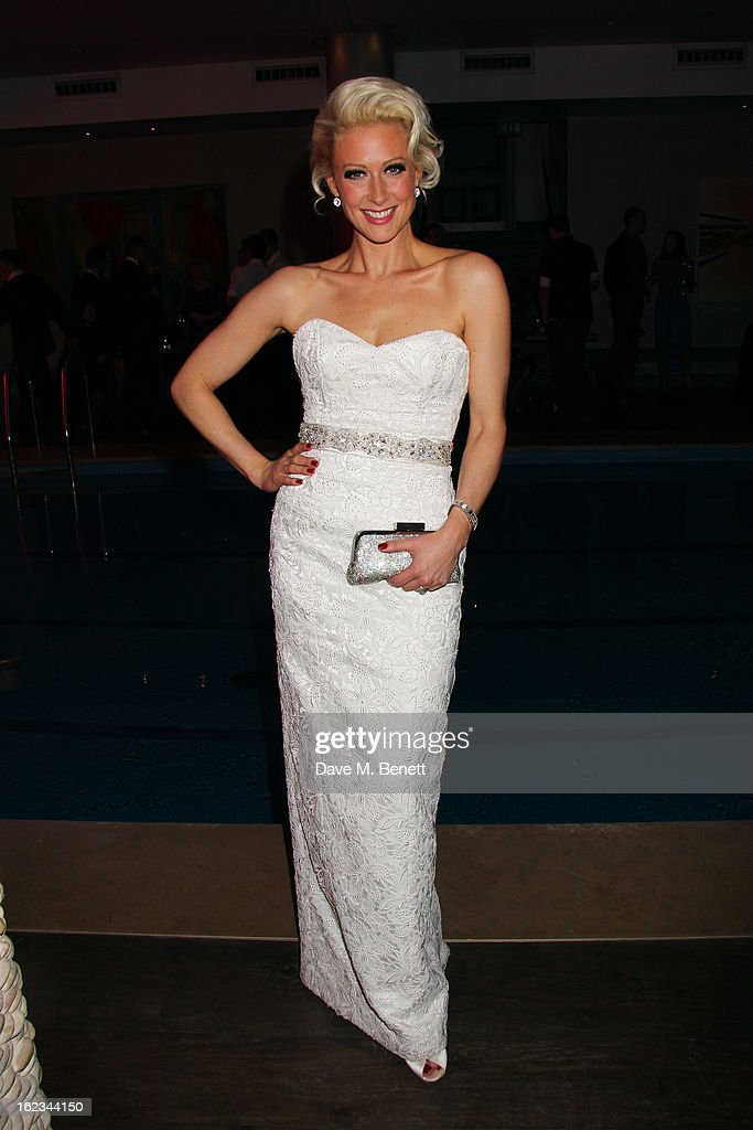 Faye Tozer attends 'The Tailor-Made Man' press night after party at the Haymarket Hotel on January 21, 2013 in London, England.