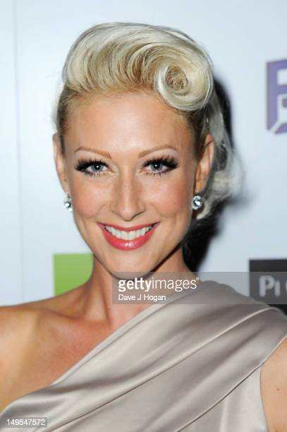 Faye Tozer attends the UK Creatives Drinks Reception celebrating media arts sport and creativity in the UK at Dover Arts Club on July 30 2012 in...
