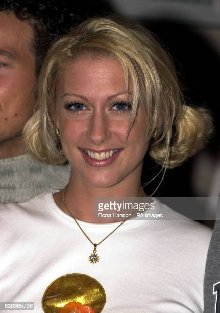 Faye Tozer singer with the pop band Steps during the launch of Worldpop's sponsorship deal with the British Association Record Dealers and British...