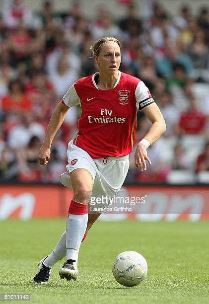 Faye White of Arsenal in action during the The FA Womens Cup Sponsored by EON match between Arsenal and Leeds United at the City Ground on May 5 2008...