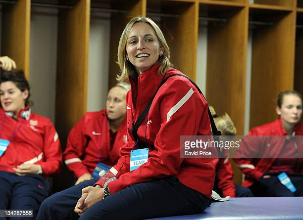 Faye White of Arsenal Ladies FC in the changingroom before the friendly game against INAC Kobe at the Nishigaoka Stadium on November 30 2011 in Tokyo...