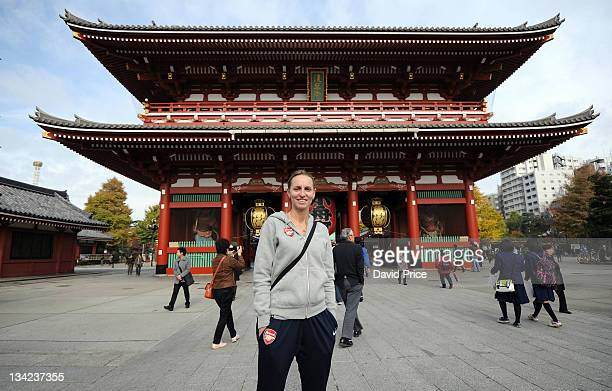 Faye White of Arsenal Ladies FC players sightsees around town during a tour on November 29 2011 in Tokyo Japan