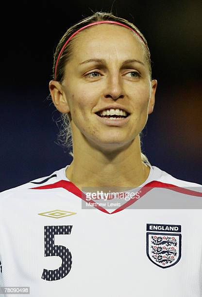 Faye White of England lines up ahead of the UEFA Women's European Championship Qualifying Round Group One match between England and Spain at The New...