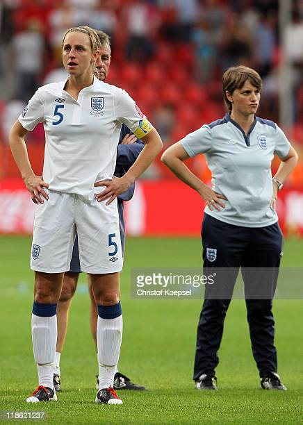 Faye White of England looks dejected after not socoring the decision penalty during the penalty shootout during the FIFA Women's World Cup 2011...