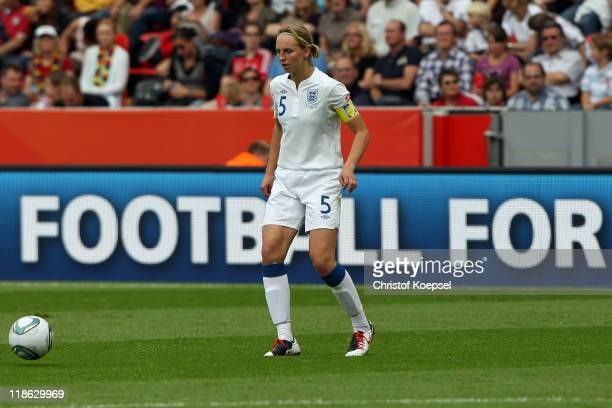 Faye White of England runs with the ball during the FIFA Women's World Cup 2011 Quarter Final match between England and France at the FIFA Women's...