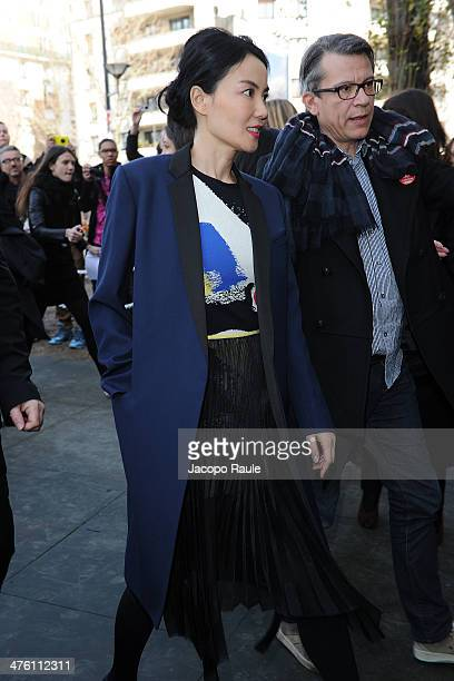 Faye Wong arrives at Celine Fashion Show during Paris Fashion Week Womenswear Fall/Winter 20142015 on March 2 2014 in Paris France