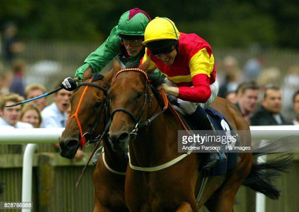 Fayr Jag ridden by Willy Supple on his way to winning the Hopeful Stakes over the July Racecourse at Newmarket Friday August 22 2003 Prerace...