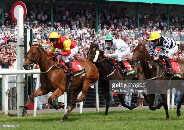 Fayr Jag with jockey David Allan wins John Smith's 'extra Cold' Chipchase Stakes at Newcastle racecourse