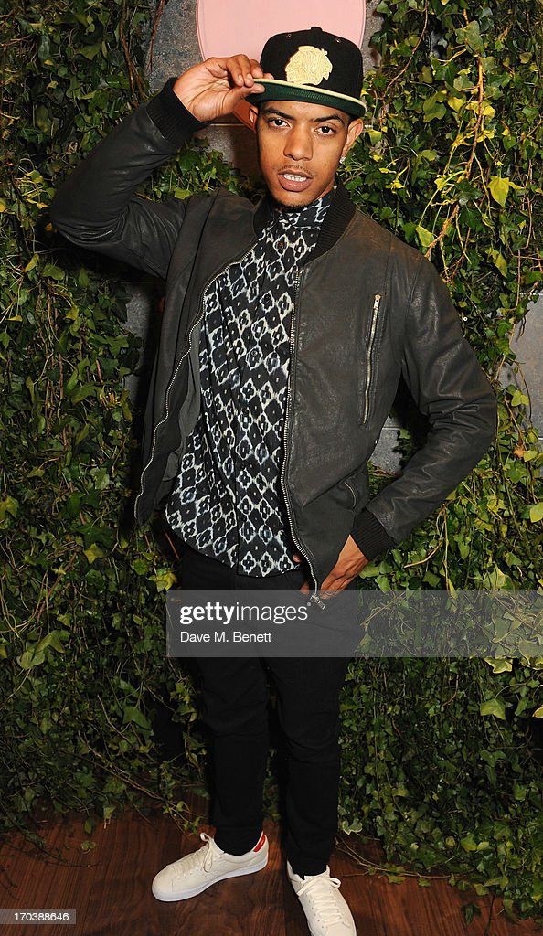 Fazer attends the Dom Perignon Rose 2002 Dark Jewel launch with Stephen Webster at The Connaught Hotel on June 12, 2013 in London, England.