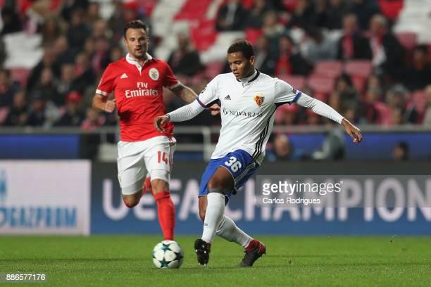 Fc Basel defender Manuel Akanji from Switzerland during SL Benfica v FC Basel UEFA Champions League round six match at Estadio da Luz on December 05...