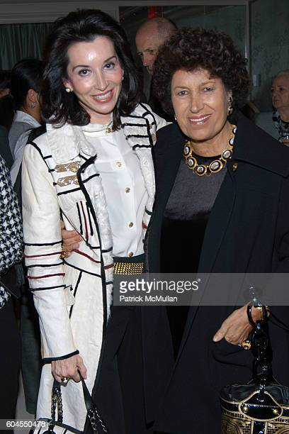 Fe Fendi and Carla Fendi attend Ira Neimark's Book Launch 'CROSSING FIFTH AVENUE To Bergdorf Goodman' at Bergdorf Goodman on November 6 2006 in New...