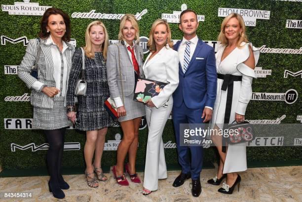 Fe Fendi Barbara Cirkva Kathy Prounis Yaz Hernandez Dr John Mesa and Leticia Presutti attends 2017 Couture Council Award Luncheon at David H Koch...