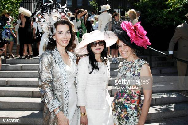 Fe Fendi Patricia Shiah and Alexandra Lebenthal attend CENTRAL PARK CONSERVANCY's 28th Annual Fredrick Law Olmsted Awards Luncheon at Conservatory...