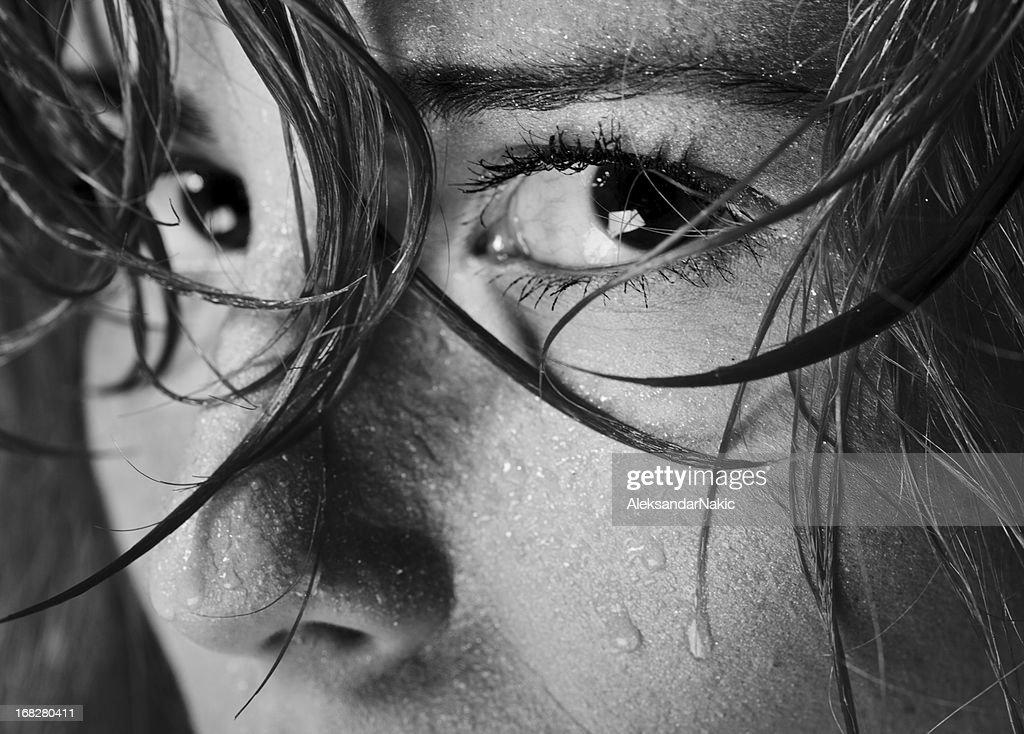 Paura e tristezza : Foto stock