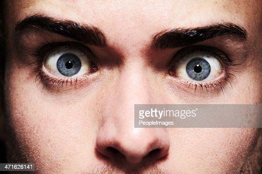 Fear in his eyes