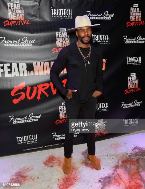 'Fear The Walking Dead' television series cast member Colman Domingo attends the Fear the Walking Dead Survival attraction grand opening at the...