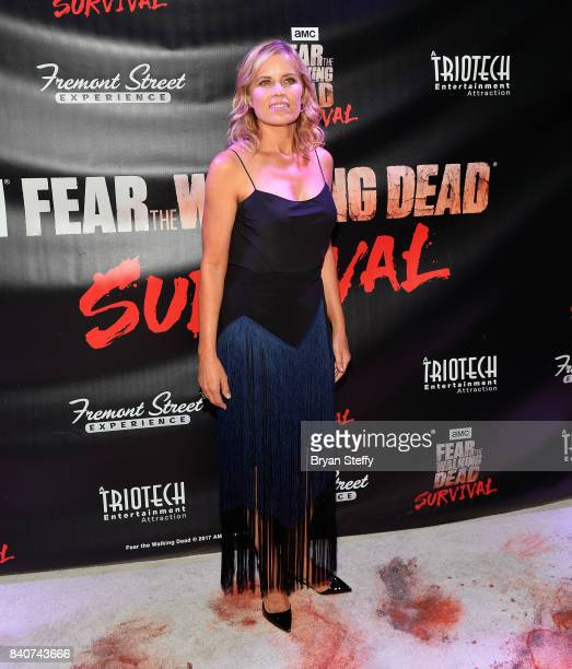 'Fear The Walking Dead' television series cast member Kim Dickens attends the Fear the Walking Dead Survival attraction grand opening at the Fremont...