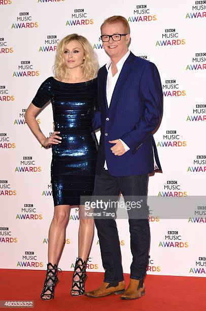 Fearne Cotton and Chris Evans attend the BBC Music Awards at Earl's Court Exhibition Centre on December 11 2014 in London England