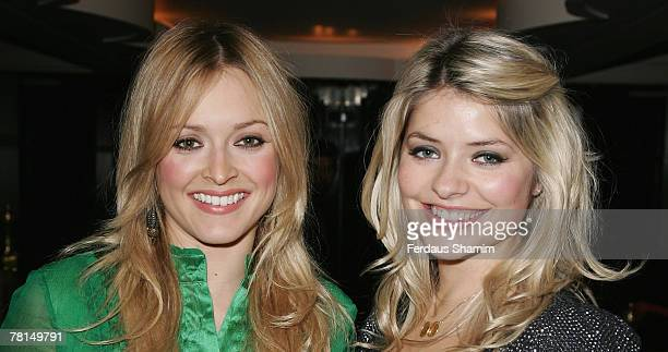Fearne Cotton and Holly Willoughby attend the RTS Craft and Design Awards at The Savoy on November 29 2007 in London
