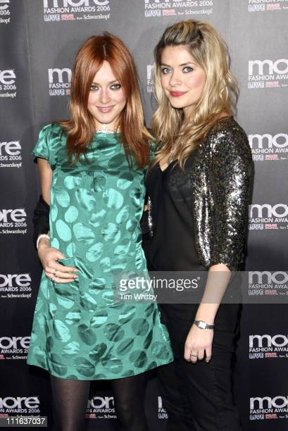 Fearne Cotton and Holly Willoughby during 'more' Fashion Awards 2006 Arrivals at Koko in London Great Britain