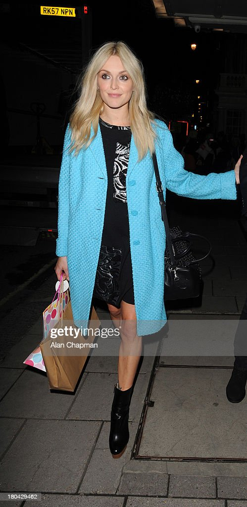 Fearne Cotton and Jessie Wood sighting leaving the Fearne Cotton Fashion Show, Claridges on September 12, 2013 in London, England.