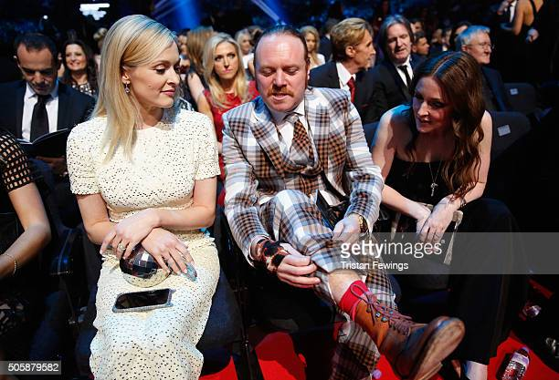 Fearne Cotton and Leigh Francis at the 21st National Television Awards at The O2 Arena on January 20 2016 in London England