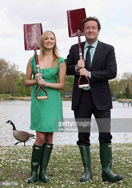 Fearne Cotton and Piers Morgan launch a search to find green teenagers across the UK to take part in NPower's Climate Cops programme in Regents Park...
