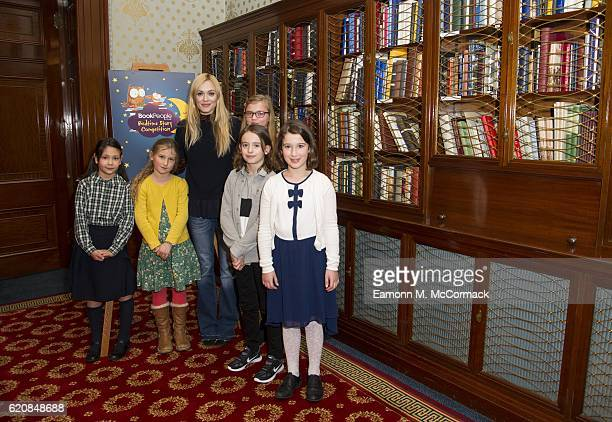 Fearne Cotton and Shortlisted young Authors at the Book People's Bedtime Story Competition award ceremony at Clothworkers Hall on November 3 2016 in...