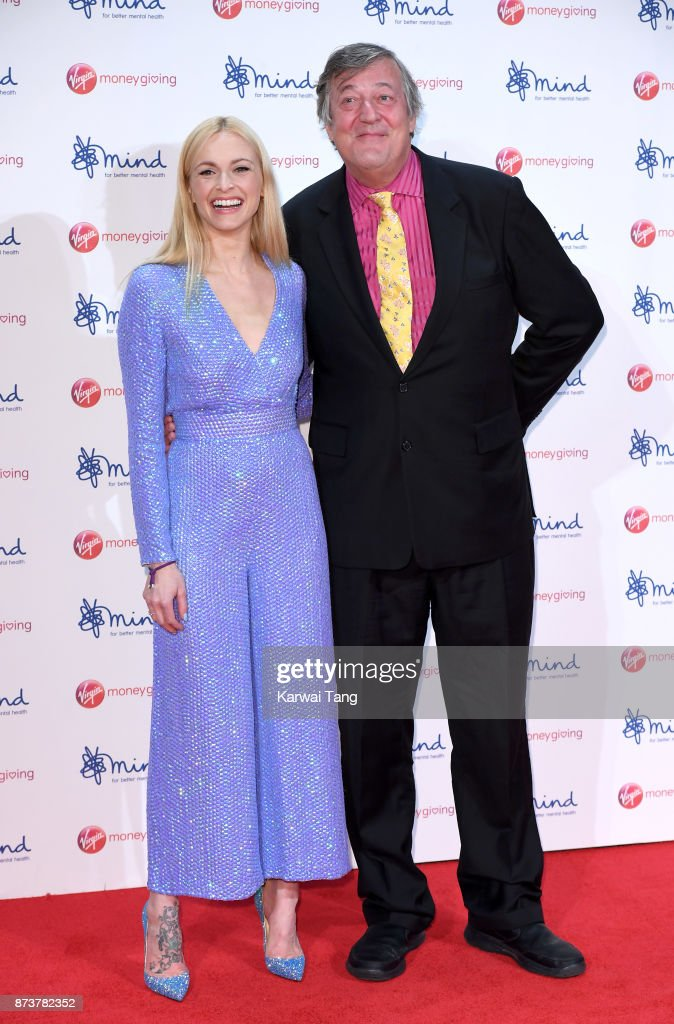 Fearne Cotton and Stephen Fry attend the Virgin Money Giving Mind Media Awards at Odeon Leicester Square on November 13, 2017 in London, England.