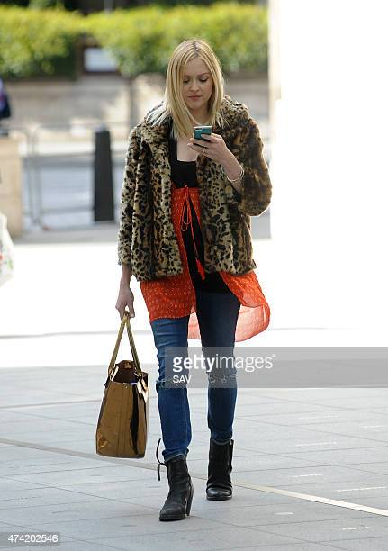 Fearne Cotton arrives at BBC Radio 1 on May 21 2015 in London England