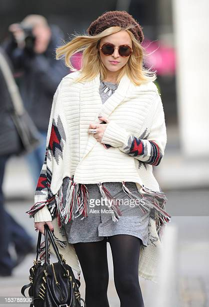 Fearne Cotton Arrives At BBC Radio 1 on October 9 2012 in London England