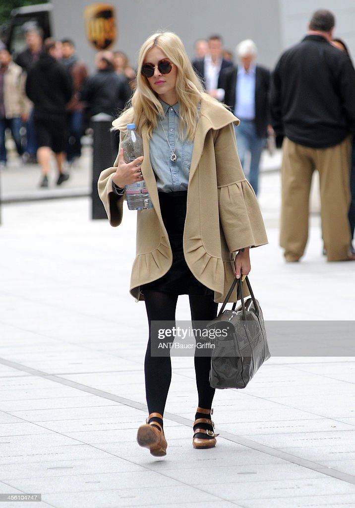 Fearne Cotton arrives at BBC Radio 1 on September 20, 2013 in London, United Kingdom.