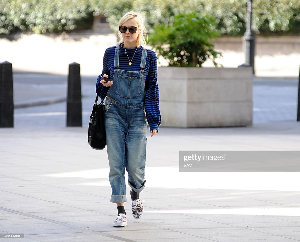 Fearne Cotton arrives at Radio 1 on April 18, 2014 in London, England.