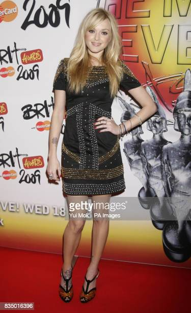 Fearne Cotton arriving for the Brit Awards shortlist announcement at the Roundhouse in London