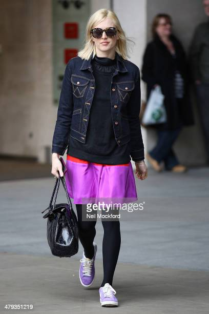 Fearne Cotton at BBC Radio One on March 18 2014 in London England