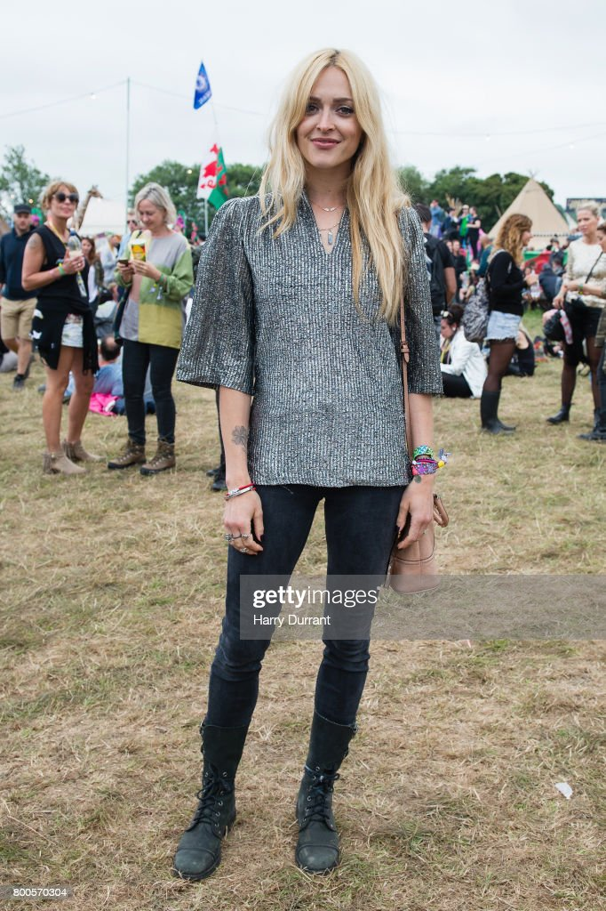 Fearne Cotton attends day 3 of the Glastonbury Festival 2017 at Worthy Farm, Pilton on June 24, 2017 in Glastonbury, England.