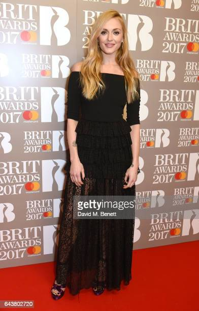 ONLY Fearne Cotton attends The BRIT Awards 2017 at The O2 Arena on February 22 2017 in London England