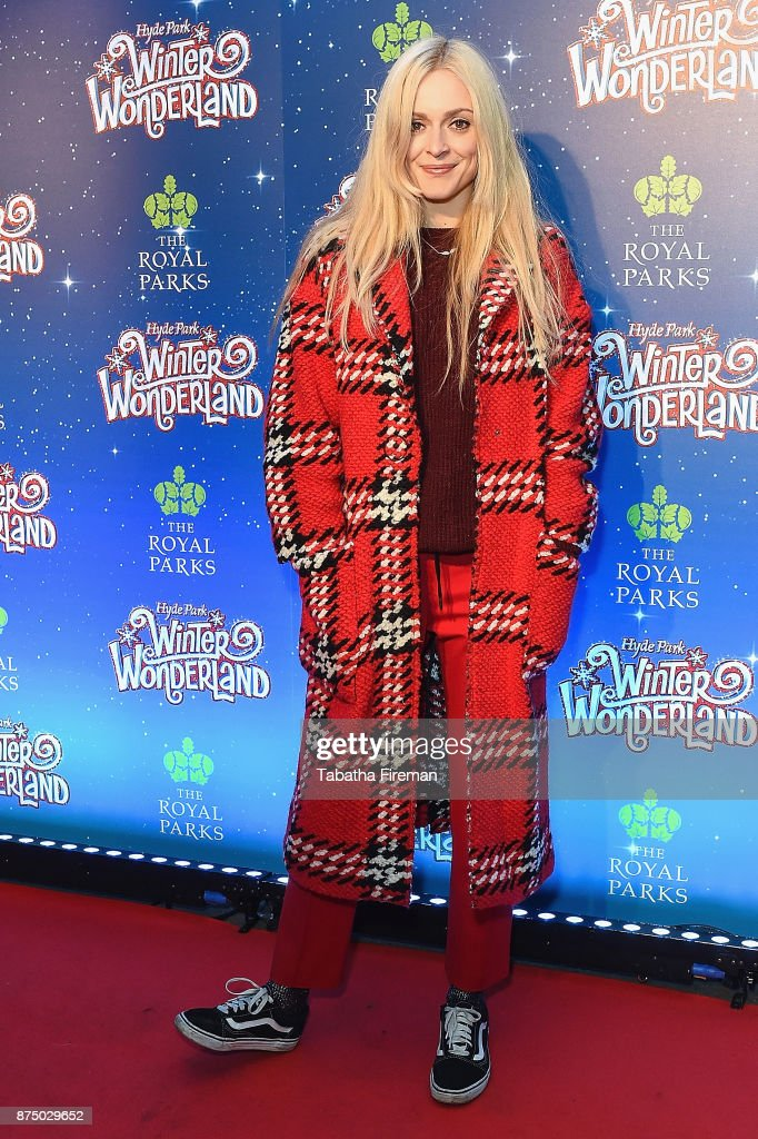 Fearne Cotton attends the Winter Wonderland VIP launch night at Hyde Park on November 16, 2017 in London, England.