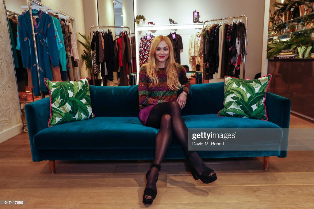 Fearne Cotton holds her charity pop-up shop at River Island with The Huffington Post UK on March 3, 2017 in London, United Kingdom.