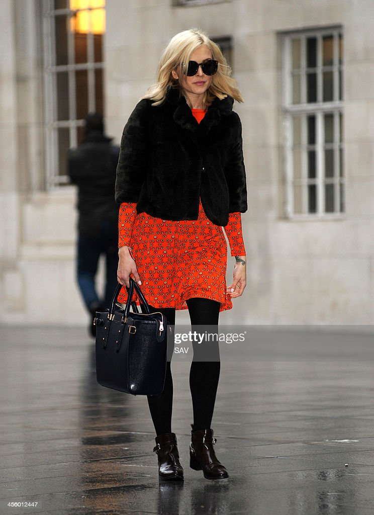 Fearne Cotton pictured arriving at Radio 1 on December 13, 2013 in London, England.