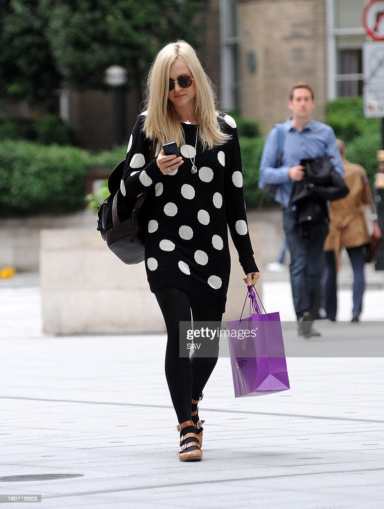 Fearne Cotton pictured arriving at Radio 1 on September 9, 2013 in London, England.